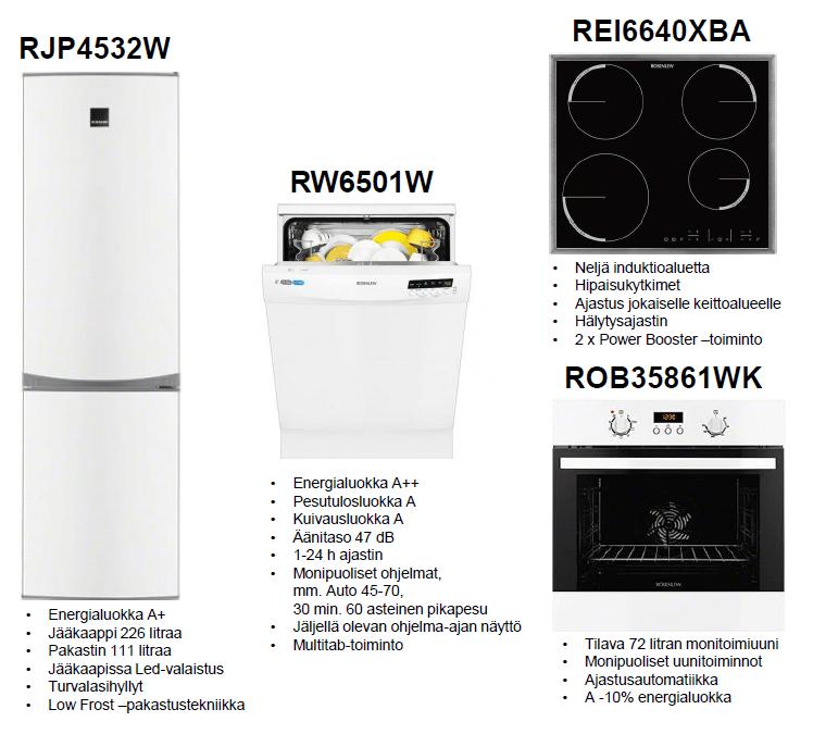 Rosenlew hushållsmaskinpaket 1