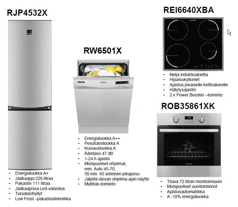 Rosenlew hushållsmaskinpaket 2 RST